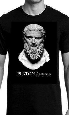 Atlantisz-póló - Platón - unisex XXL